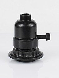 cheap -E26 Black Plastic Half Tooth Screw Mouth With Outer Ring Knob Switch Lamp Holder