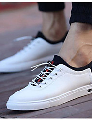 Men's Shoes PU Spring Summer Comfort Sneakers For Casual Black White