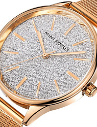 cheap -Men's Women's Dress Watch Fashion Watch Japanese Quartz Stainless Steel Band Black Silver Rose Gold