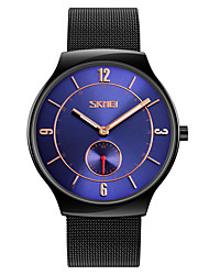 cheap -SKMEI Men's Dress Watch Fashion Watch Wrist watch Japanese Quartz Water Resistant / Water Proof Stainless Steel Band Black