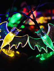Solar Powered  LED String Light Bat Shape 0.5W 10LM 2V 6Meters 30LEDS Multi Color/Warm White/White