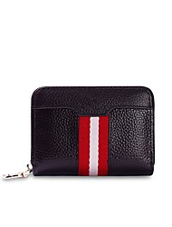 cheap -Women Bags Cowhide Wallet Zipper for Shopping Casual All Seasons Black Coffee