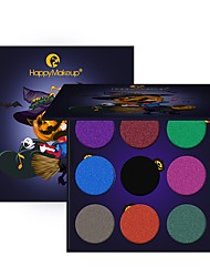 preiswerte -9 Lidschattenpalette Trocken Matt Schimmer Mineral Lidschatten-Palette Alltag Make-up Halloween Make-up Party Make-up Feen Makeup Cateye
