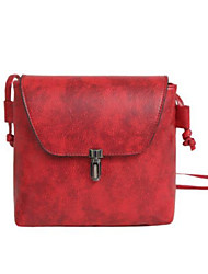 cheap -Women Bags PU Crossbody Bag Zipper for Casual All Seasons Black Red Light Gray Brown