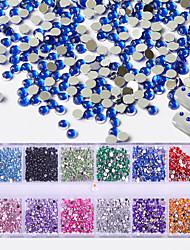 preiswerte -1 Glitzer Nagelschmuck Kristall Künstlerisch Rund Luxus Geometrisch Mit Steinen verziert Accessoires Luxuriös Niedlich Kreativ Aktiv