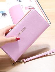 economico -Donna Sacchetti PU (Poliuretano) Portafoglio Cerniera per Shopping Per tutte le stagioni Blu Nero Rosa Viola