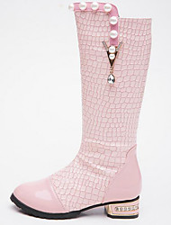 cheap -Girls' Shoes PU Winter Comfort / Fashion Boots Boots for White / Black / Pink