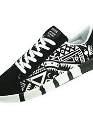 abordables -Homme Chaussures Flocage Printemps / Automne Confort Basket Blanc / Noir / Bleu