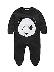 cheap -Baby Kids Animal One-Pieces,Cotton Winter Fall Cartoon Long Sleeve Black Red Gray