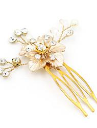 economico -stile elegante del copricapo del bastone dei capelli del perno di capelli dei capelli della lega del rhinestone