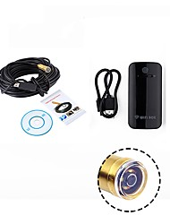 cheap -WIFI Endoscope 14.5MM Lens 15M Cable Waterproof IP67 Android USB Camera Snake Inspection Borescope for IOS PC Wireless Cam
