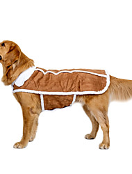 cheap -Dog Coat Vest Dog Clothes British Brown Fabric Suede Costume For Pets Casual/Daily Keep Warm Sports Wedding New Year's