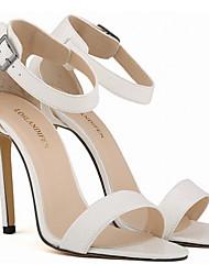 Damen Schuhe PU Sommer Pumps Sandalen Stöckelabsatz Mittelhohe Stiefel Für Normal Weiß Silber Fuchsia Rot Blau