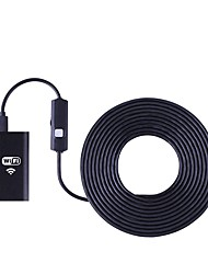 billiga -wifi endoskop kamera 8mm lins 5m hård kabel borescope vattentät inspektion kamera hd för ios android endoskop pc tablett
