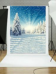 cenários de fotos vinil 5x7ft belos desenhos animados de natal de desenho de natal