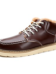 cheap -Men's Shoes Real Leather PU Leather Fall Winter Comfort Snow Boots Riding Boots Fashion Boots Bootie Combat Boots Boots Booties/Ankle