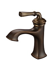 Antique Classic Style Centerset High Quality Ceramic Valve Single Handle One Hole Antique Brass , Bathroom Sink Faucet