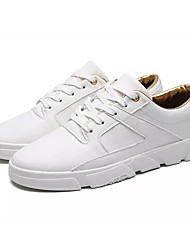 cheap -Men's Shoes Fabric Spring Fall Light Soles Sneakers Lace-up For Athletic Red Coffee Black White