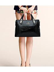 cheap -Women's Bags leatherette / PU(Polyurethane) Tote Zipper Black / Wine