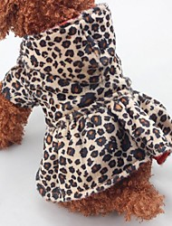 cheap -Christmas Dog Clothes One Piece Keep Warm Leopard Leopard Costume For Pets