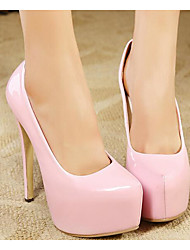 cheap -Women's Shoes Patent Leather Spring Fall Basic Pump Heels For Casual Light Pink Red Black White