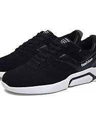 Homme Chaussures Polyuréthane Printemps Automne Confort Basket Lacet Pour Décontracté Noir et Or Noir/blanc Noir/Rouge