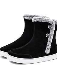 cheap -Women's Shoes Fabric Fall Winter Fluff Lining Comfort Snow Boots Boots For Casual Outdoor Blue Gray Black