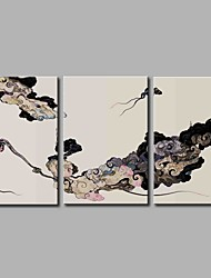 Недорогие -облака 3-х частей современного искусства настенного искусства для украшения комнаты 20x28inchx3