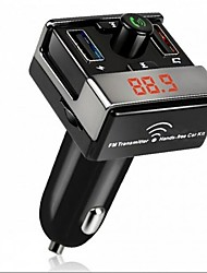 cheap -Dual USB Bluetooth Hands-Free MP3 Audio Player Car FM Transmitter Support TF Card USB Flash Disk For Android IOS ME3L