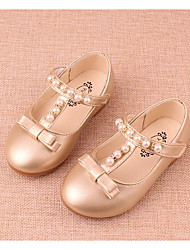 cheap -Girls' Shoes Leatherette Fall Winter Comfort Loafers & Slip-Ons For Casual Silver Gold