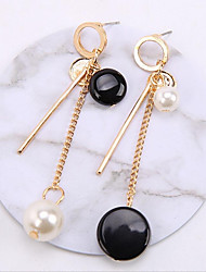 Women's Hoop Earrings Imitation Pearl Gold Plated Jewelry For Wedding Office & Career