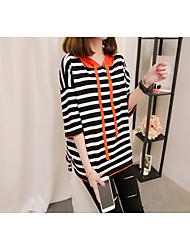 preiswerte -Damen Kunst-Pelz Pullover-Gestreift V-Ausschnitt