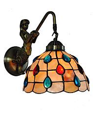 economico -diametro 20cm retro sirena tiffany luci di parete lucernario ombra soggiorno camera da letto camera da letto