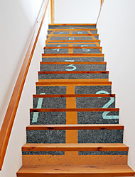 cheap -13Pcs/Set DIY 3D Stairway Stickers Jump House Stairs Decoration Large Staircase Decals Numbers Game Stairs Murals Home Decor 18*100*13cm