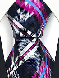 Men's Silk Neck Tie,Pattern Grid Check All Seasons