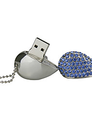 cheap -32G U Disk Crystal  Pen Drive  Pen Drive Jewelry Usb Flash Drive USB 2.0 Christmas Gift