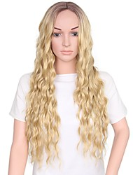 cheap -Women Synthetic Wig Capless Long Medium Brown/Strawberry Blonde Ombre Hair Natural Wigs Costume Wig