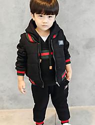 Boys' Solid Cartoon Clothing Set,Cotton Winter Fall Long Sleeve Black Red