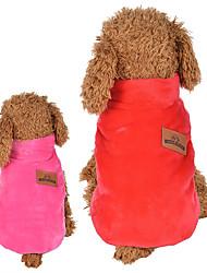economico -Gatto Cane Gilè Abbigliamento per cani Traspirante Casual Reversibile Tenere al caldo Cartoni animati Rosso Rosa Costume Per animali