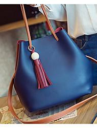 cheap -Women's Bags PU Tote Pocket Blue / White