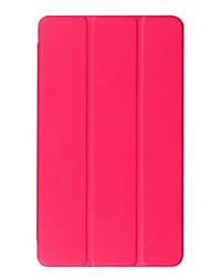 preiswerte -für case abdeckung stehen transluzent origami voller körper fall einfarbig hart pu-leder für huawei m3 8.4 btv-w09 / dl09