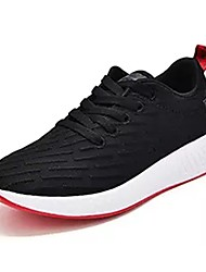 cheap -Men's Shoes Fall Comfort Athletic Shoes Walking Shoes Lace-up for Casual White Black
