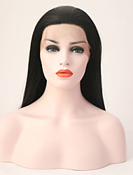cheap -Synthetic Lace Front Wig Synthetic Hair Black Wig Women's Long Lace Front