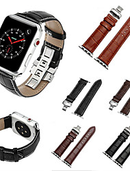 For Apple Watch Series 3 2 1 Genuine Leather Replacement Strap Wrist Bands with Butterfly Buckle 38 42mm
