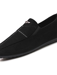 cheap -Men's Shoes Cowhide Spring Fall Comfort Loafers & Slip-Ons For Casual Red Gray Black
