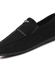 preiswerte -Herren Schuhe Leder Frühling Herbst Komfort Loafers & Slip-Ons Für Normal Schwarz Grau Rot