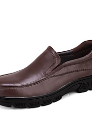 cheap -Men's Shoes Real Leather Cowhide Nappa Leather Spring Fall Driving Shoes Formal Shoes Comfort Loafers & Slip-Ons For Casual Office &