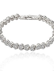 cheap -Women's Zircon Tennis Bracelet - Gold Silver Bracelet For Wedding Party
