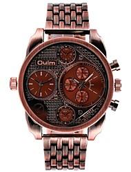 economico -Per uomo Creativo unico orologio Quarzo Rame Banda Vintage Nero Rosso Bronzo
