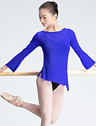 cheap -Ballet Women's Performance Tulle Long Sleeve Tops